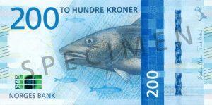 dorsz, banknot, norwegia